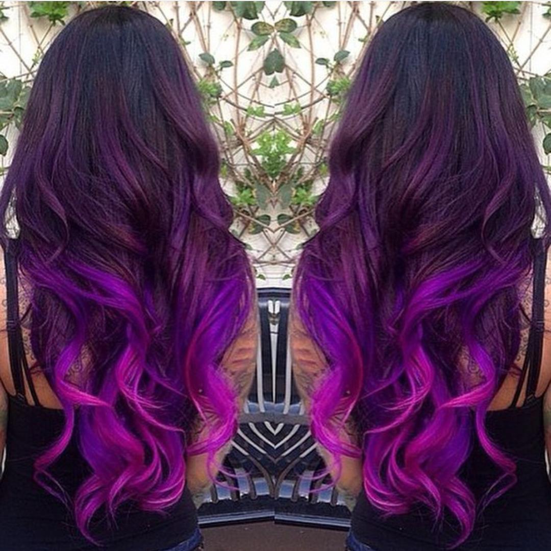 Окрашивание волос в фиолетовый цвет