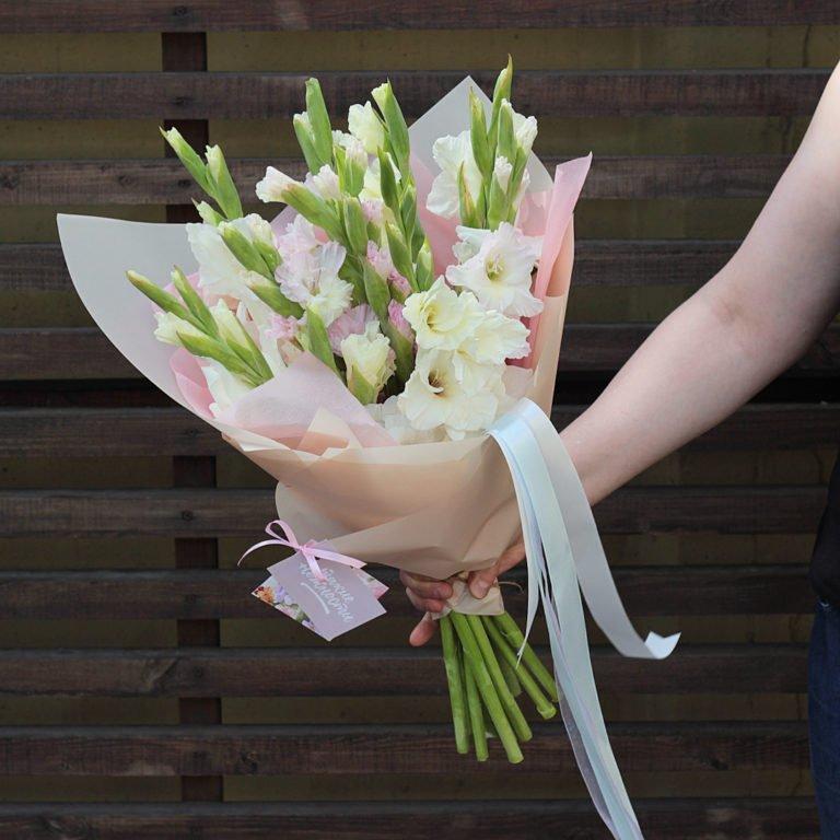 Свадебный букет с гладиолусами