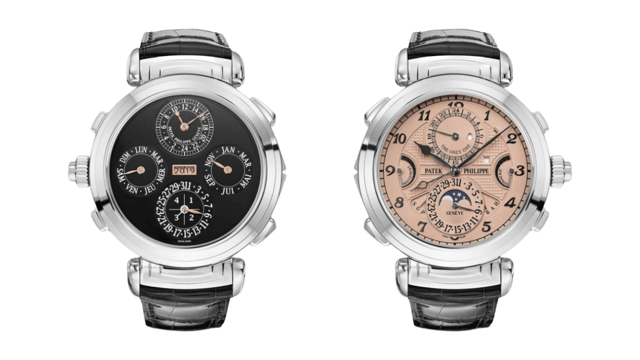 Photo of the back and front of the Patek Philippe Grandmaster Chime Ref. 6300A-010