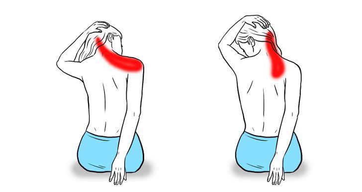 11 étirements qui permettent de soulager la tension dans la nuque et les  épaules