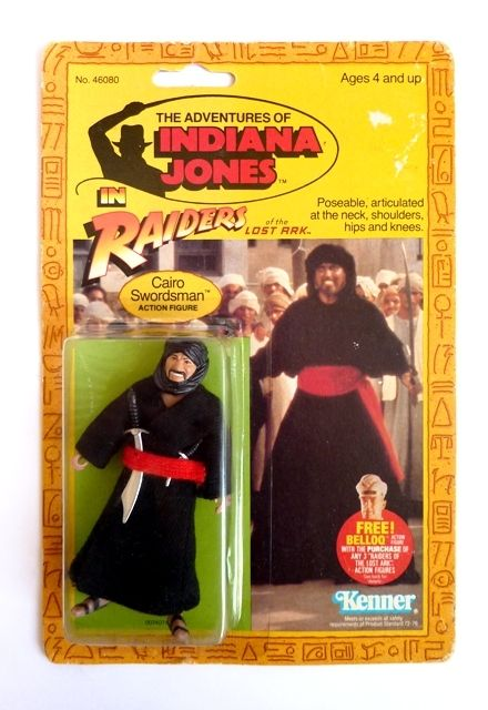 Image result for vintage indiana jones kenner swordsman""