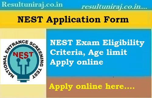 NEST 2019 Application Form