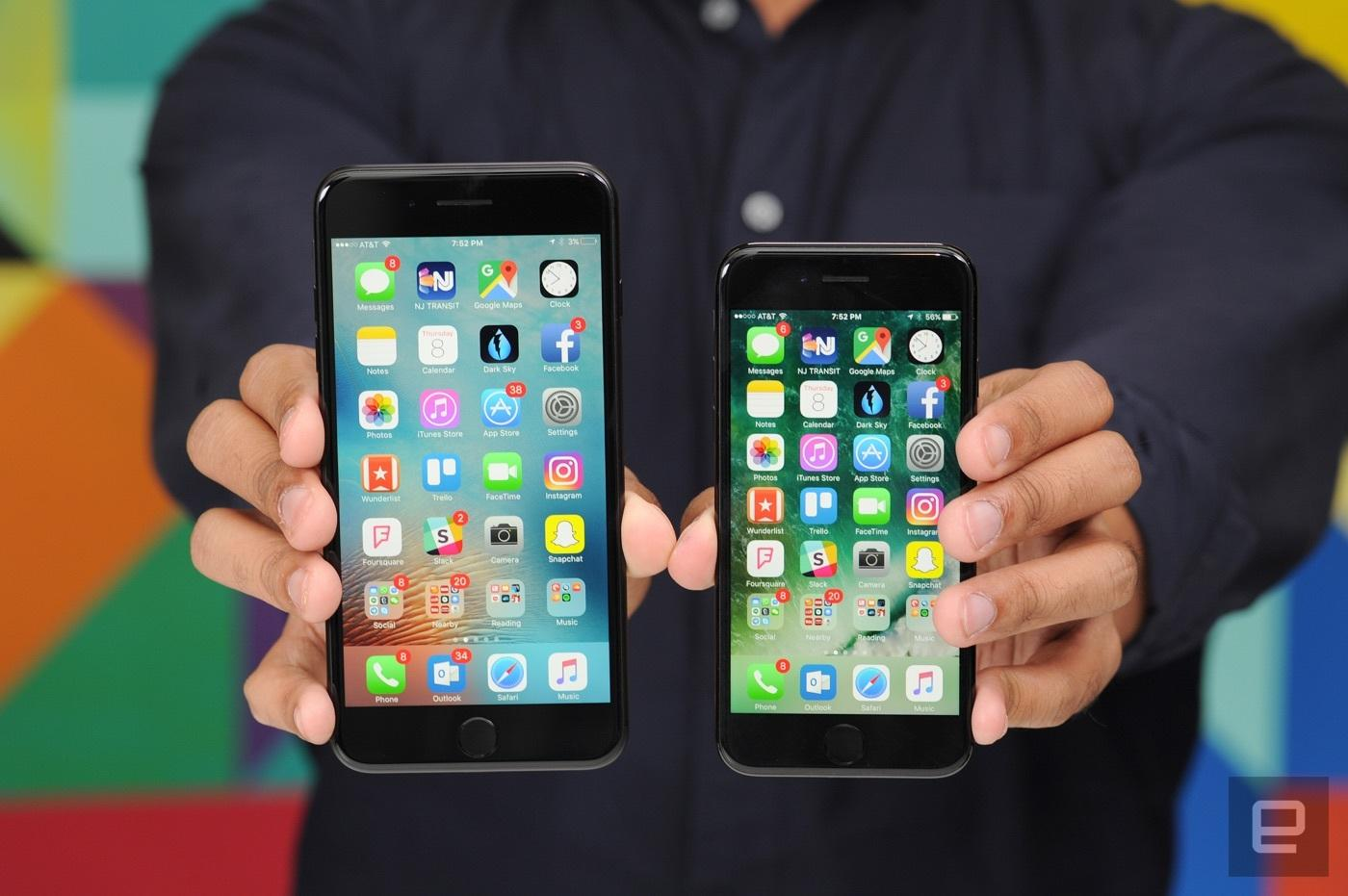 Iphone 7 vs Iphone 7Plus 8