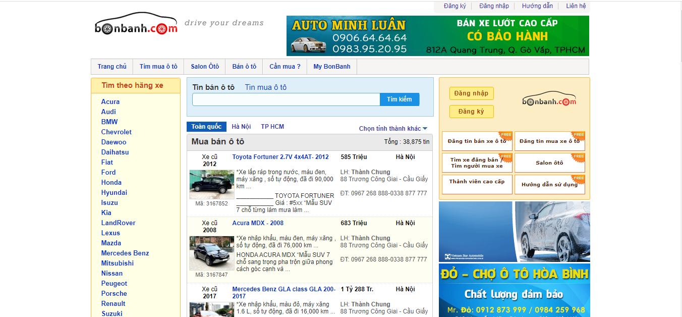 hình ảnh 3 Top 15 Trang Web Mua Bán Xe Ô Tô Uy Tín Nhất Việt Nam