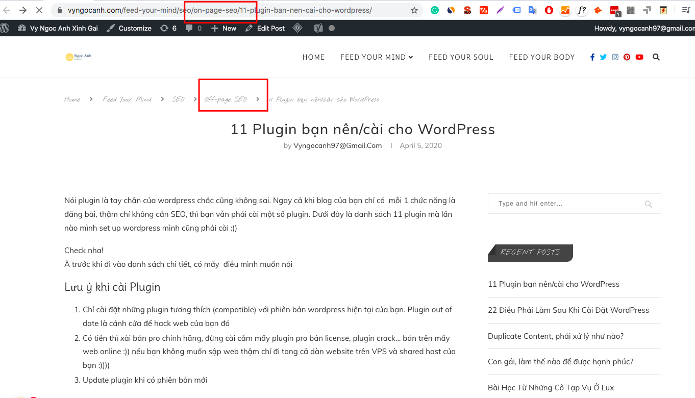 website structure url and breadcrumb