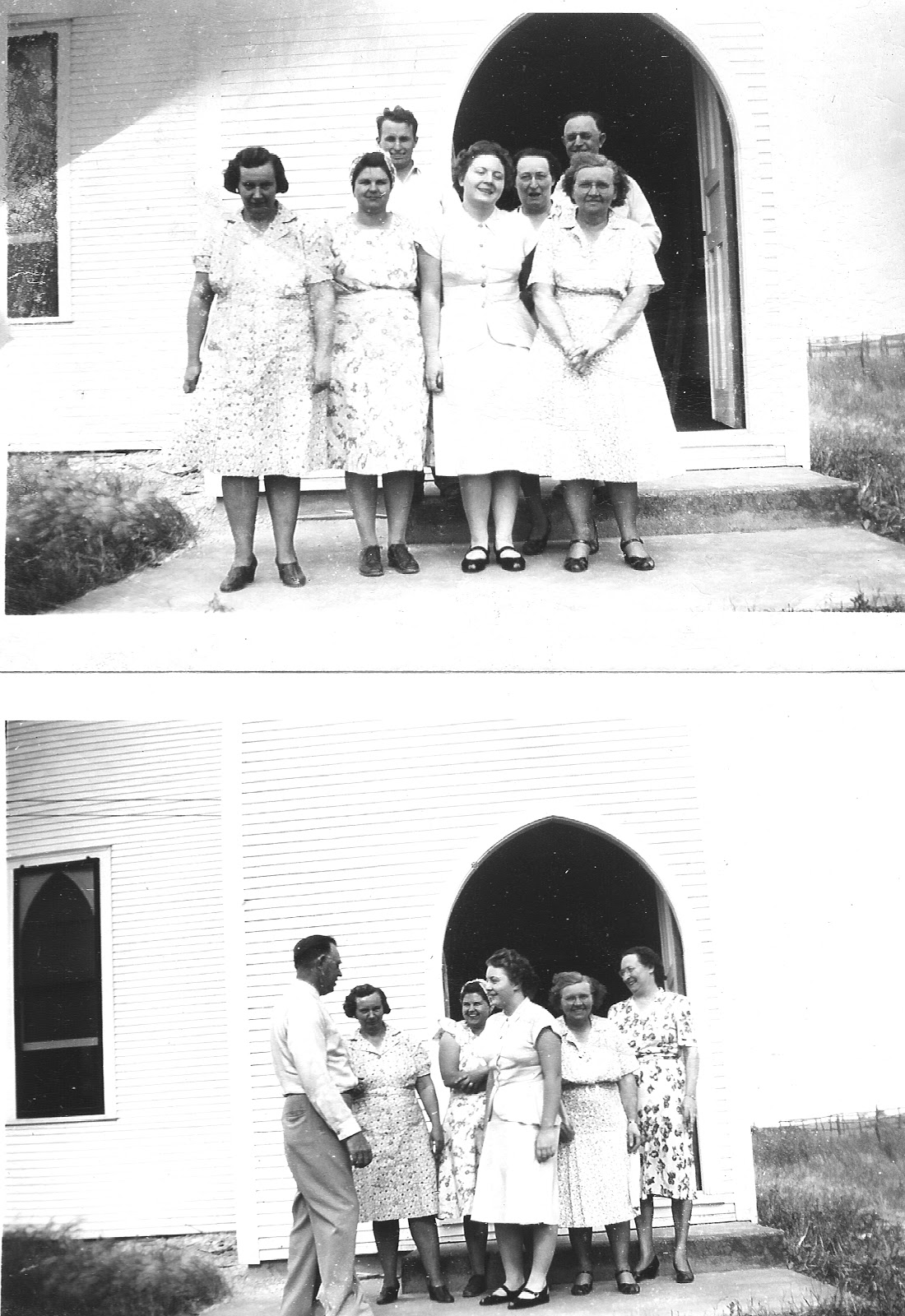 WT Vaughn and VBS workers, Antioch Church 1948.jpg