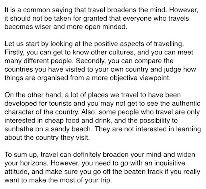 Argumentative Essay On Travel Broadens The Mind