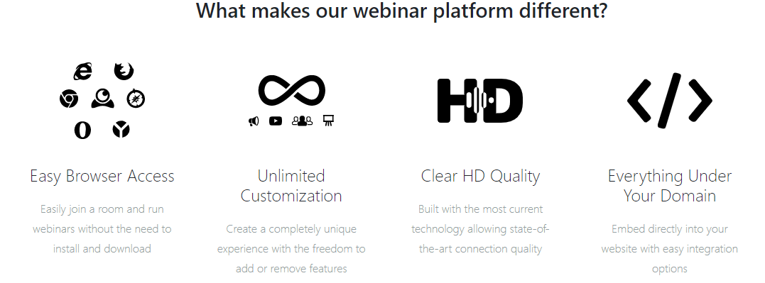 Live webinar features that make it different from other platforms