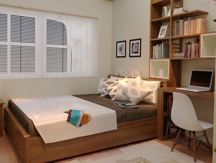 Phòng ngủ đơn giản cho nhà chung cư nhỏ