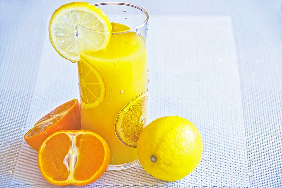 A Glass Of Juice, Fruit Juice, Juicy Citrus, Lemon