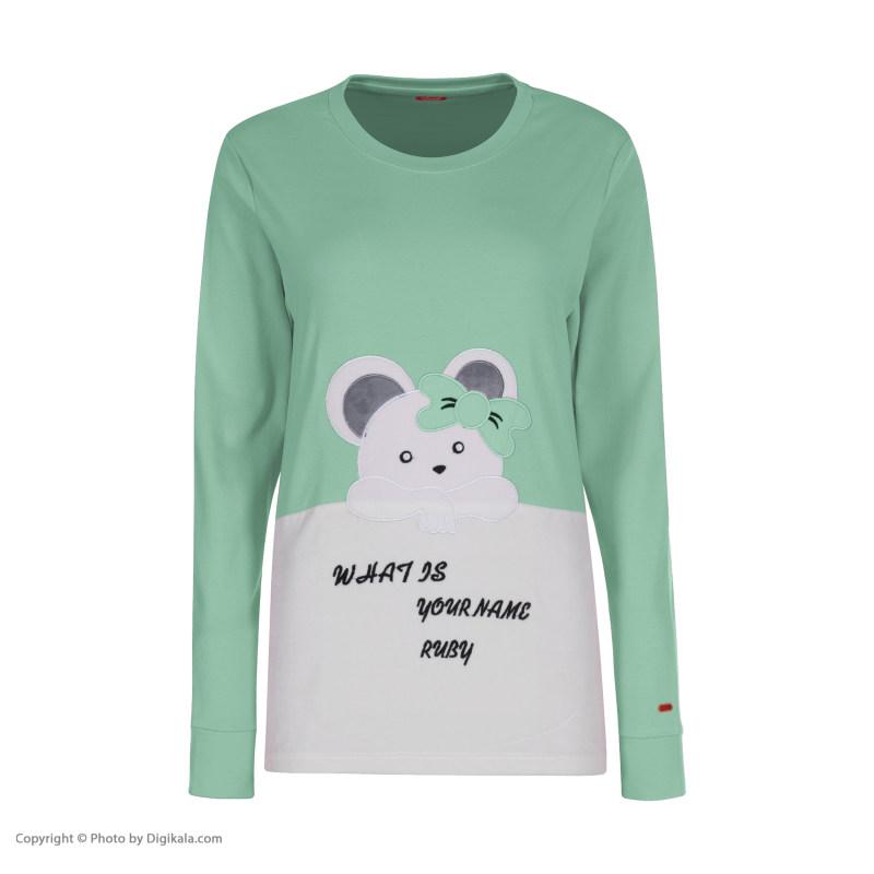 ست تی شرت و شلوار زنانه مادر مدل 2041301-54