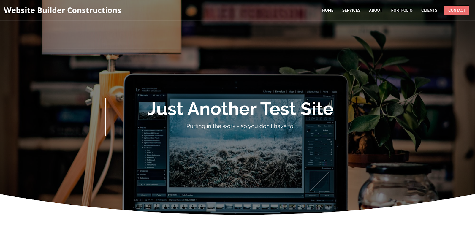 site123 website maker test site