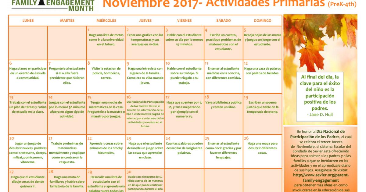 Fem Elementary Activities 2017 Spanish Pdf Google Drive