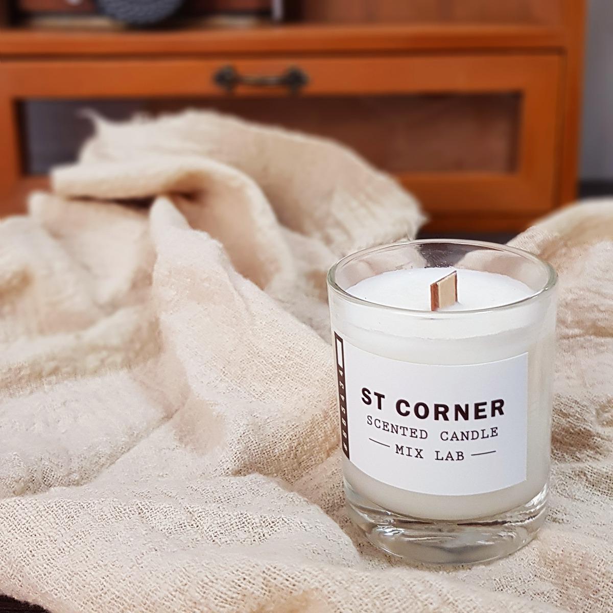 適用於居家空間,木質調 木片芯香氛蠟燭