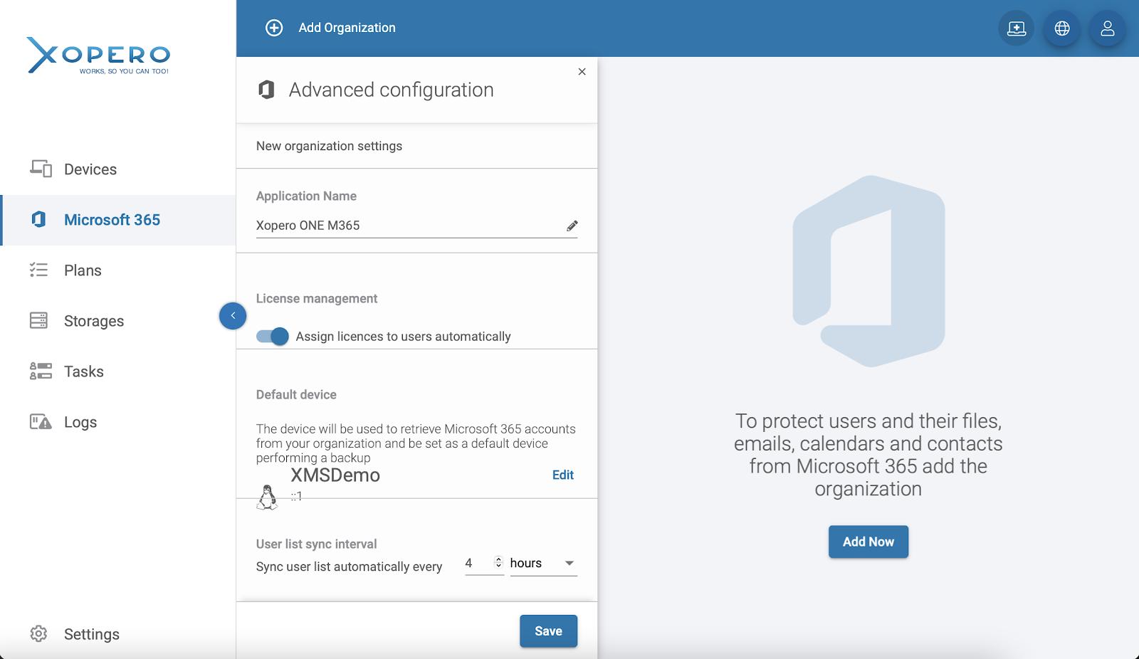 Microsoft 365 organization - advanced configuration settings