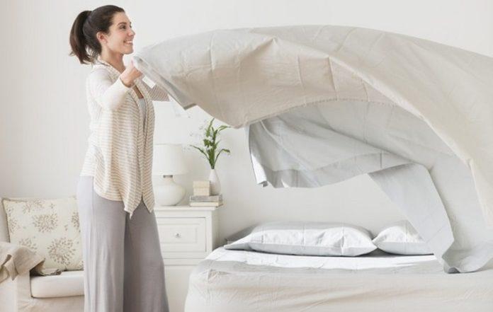 Giặt sạch chăn gối, quần áo  Điều trị tại chỗ