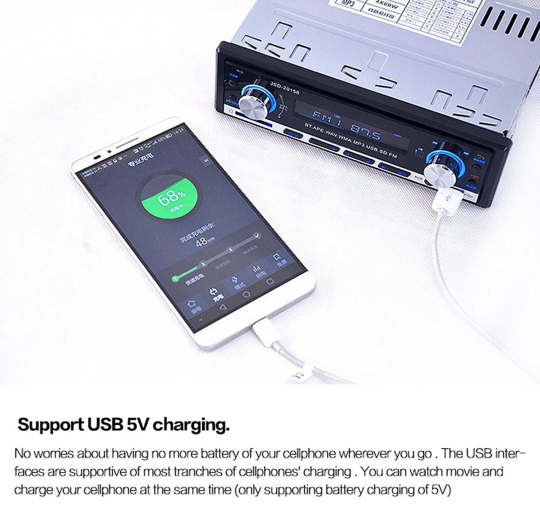 Autoradio Bluetooth Encastré Multifonctions Lecteur MP3 Radio FM entrée Aux Port SD & USB Kit Mains Libres www.avalonkef.com jh.jpg