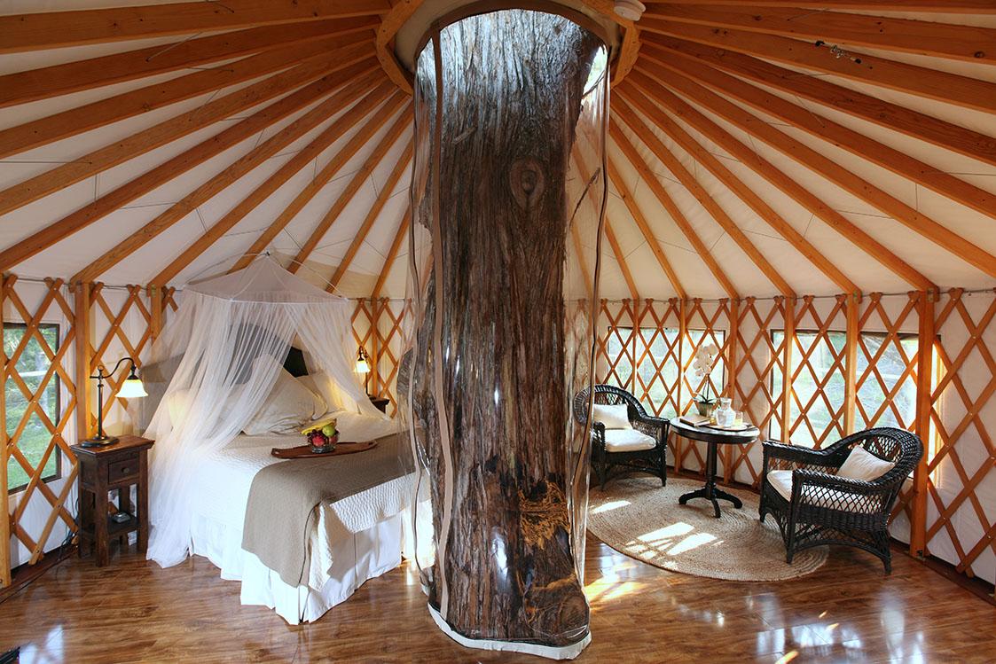 Amazing yurt with beautiful interior