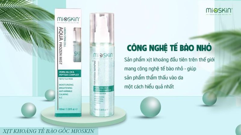 Xịt dưỡng tế bào gốc Mio Skin: Trợ thủ đắc lực cho làn da khỏe đẹp