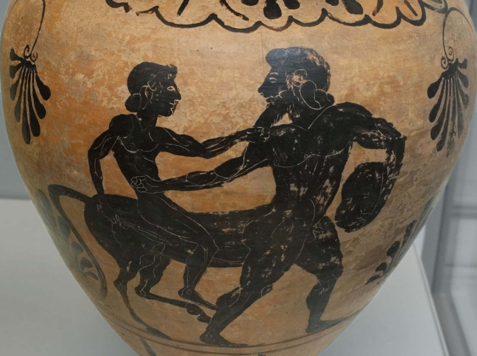 500BC-480BC. Amphora suggested to be Achilles riding Chiron. British Museum.jpg