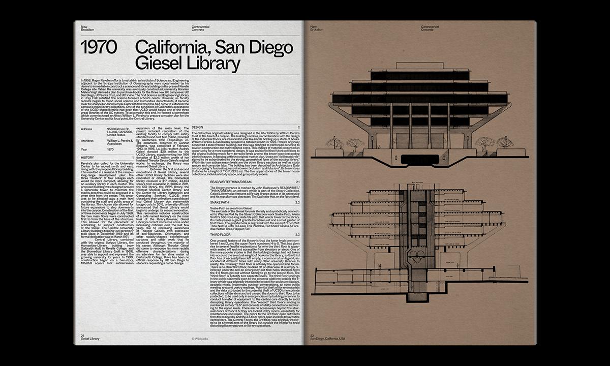 Editorial Design : New Brutalism Controversial Concrete 34