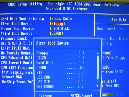 Bios boot through a USB with Windows 10 installed