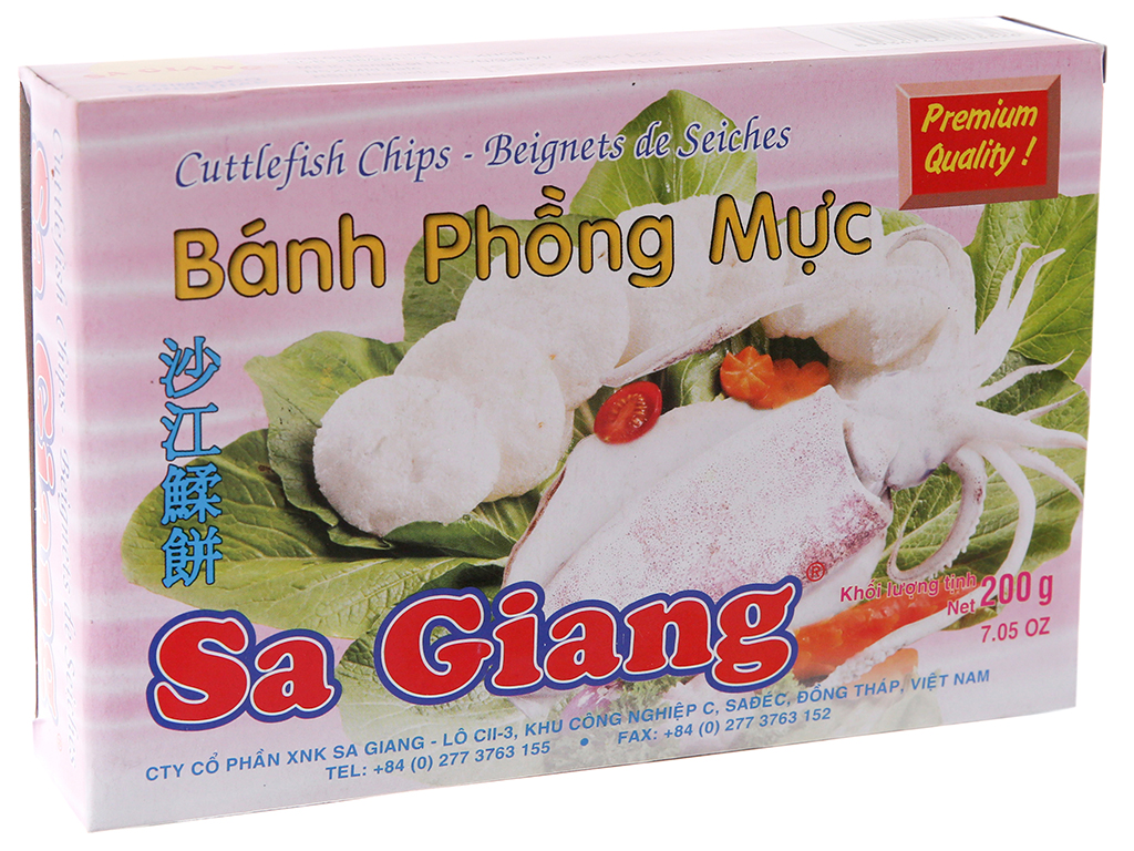 Bánh phồng mực Sa Giang 200g tại bachhoaxanh.com