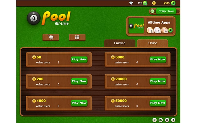 practice pool online