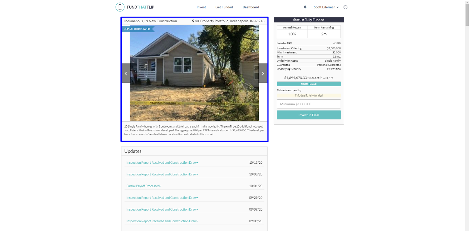 In addition to viewing the property address, you can scroll through the photos to see the current condition of the property (and sometimes the subject to plans).