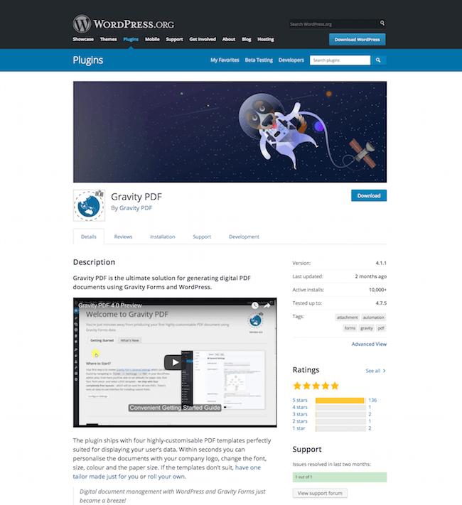 Gravity PDF WordPress PDF Plugin Download