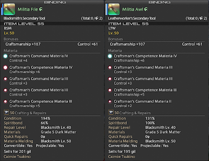 FFXIV Adv Crafting Guide by Caimie Tsukino