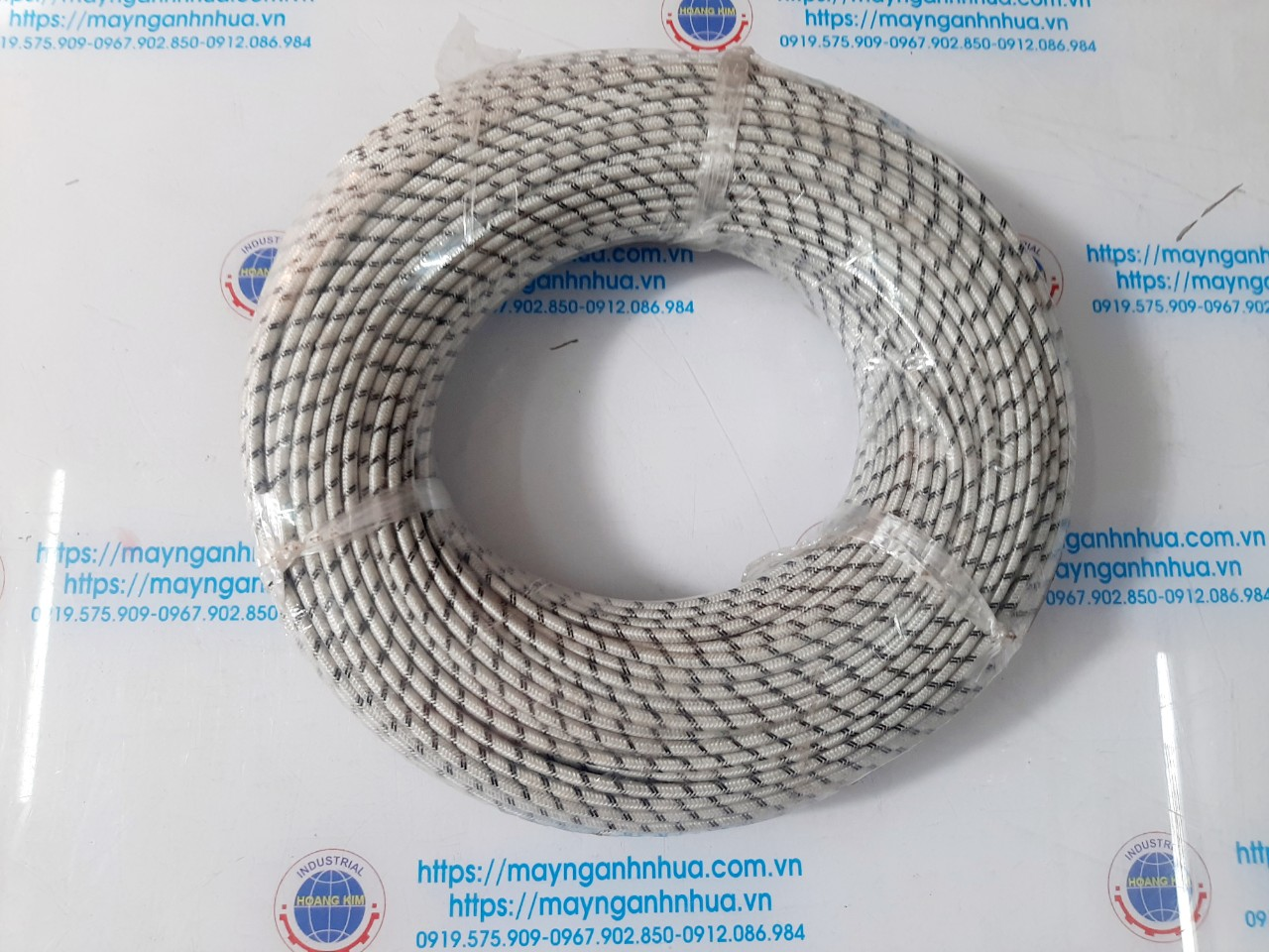 Dây điện amiang Hàn Quốc vằn trắng đen 1 20