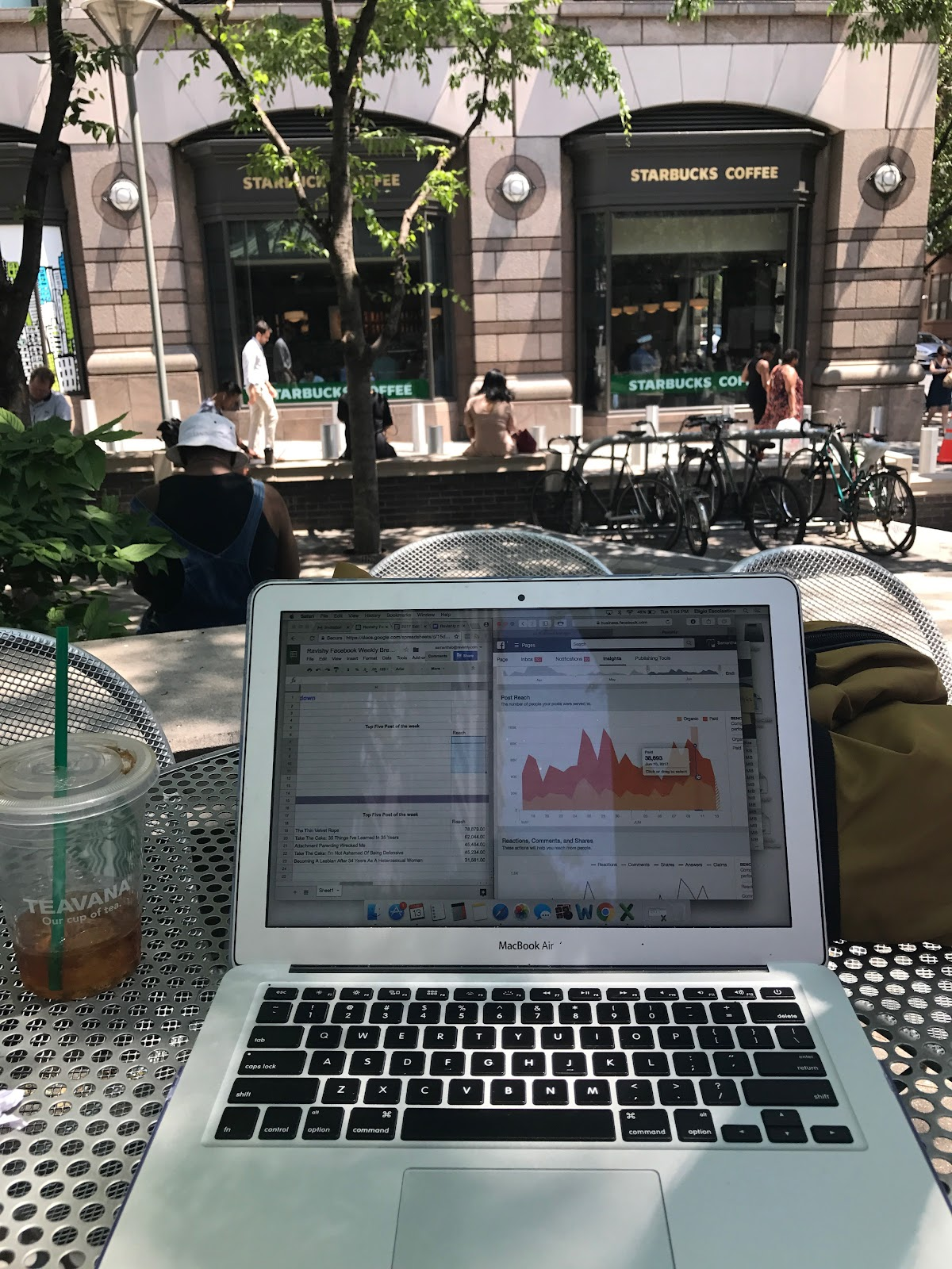 Working from OUTSIDE.