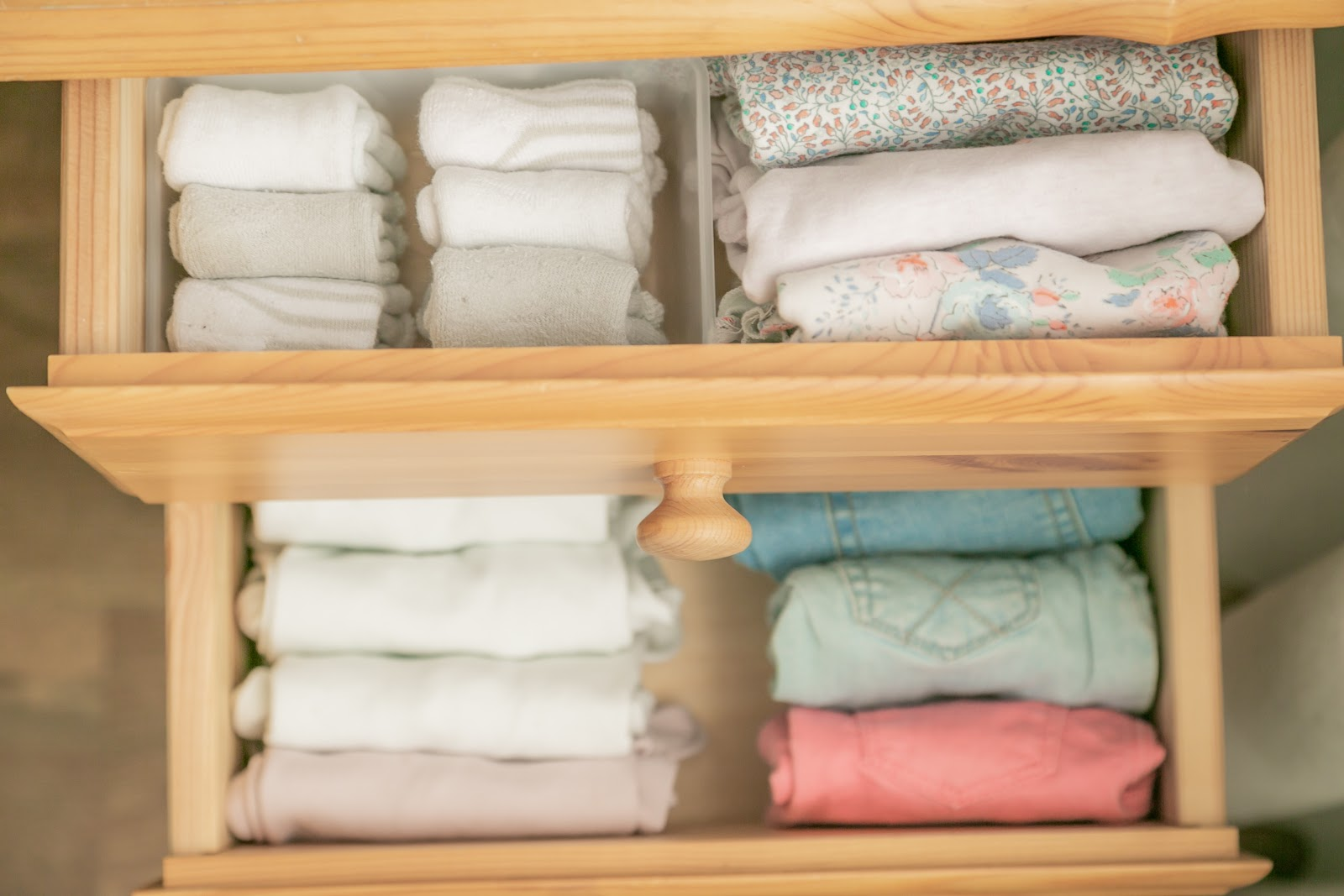folded and organized towels