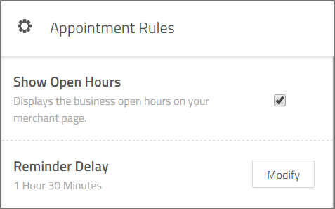 set up your appointment rules