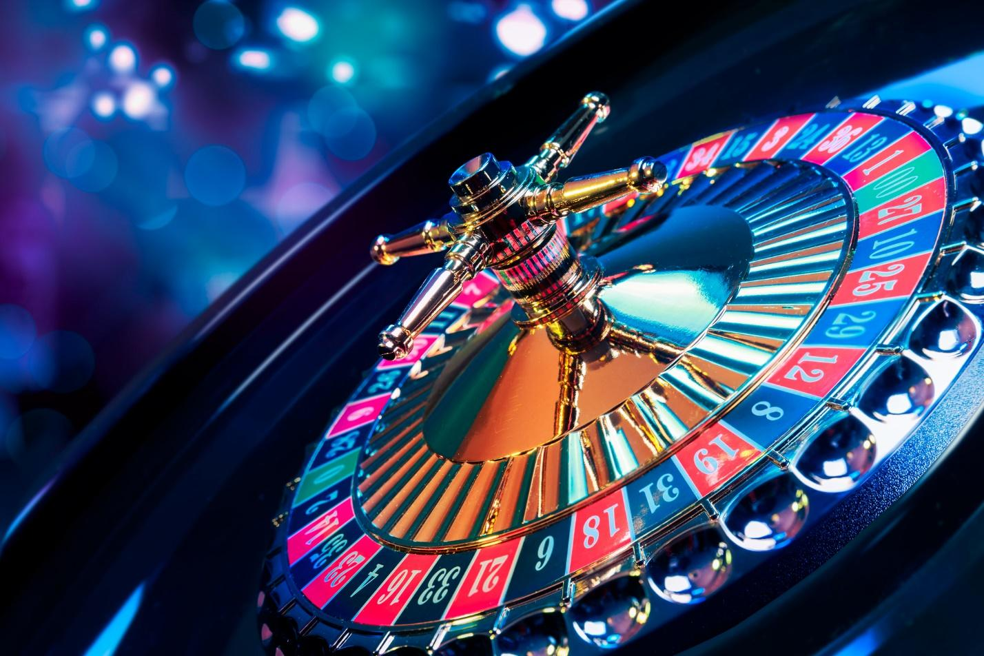 A picture containing roulette, blue  Description automatically generated