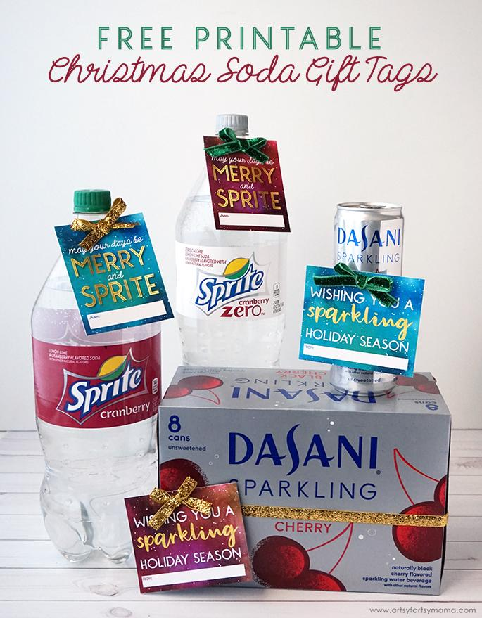 Free Printable Christmas Soda Gift Tags #MyHolidayEveryday
