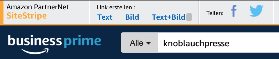 Amazon Affliate Links erstellen