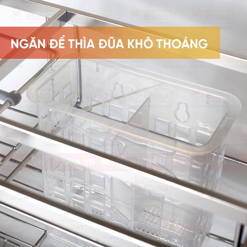 Ngăn để thìa đũa khô thoáng - Giá chai  lọ dao thớt garis inox nan - Phụ kiện bếp chính hãng