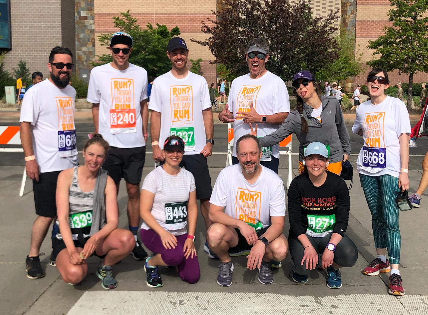 C3LX team members during a marathon