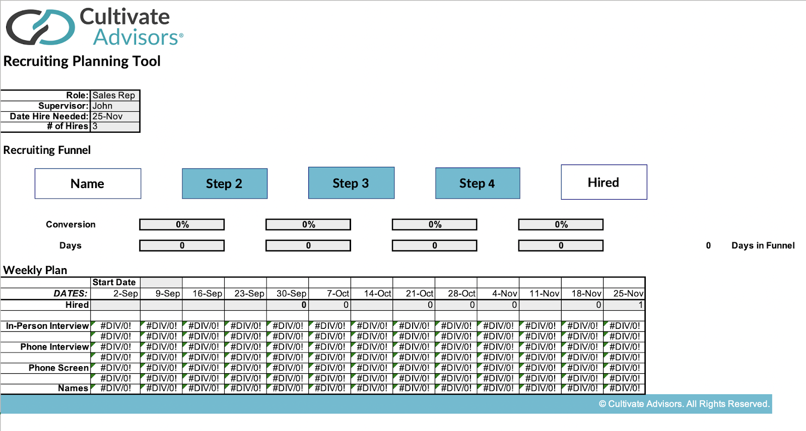 Recruiting Planning tool