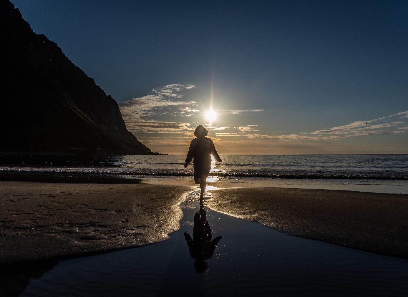 Et bilde som inneholder utendørs, vann, strand, person  Automatisk generert beskrivelse