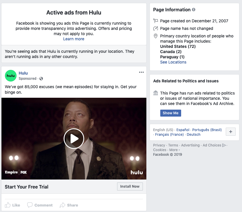 The Pros and Cons of Using Facebook's Ad Transparency Tool for Competitive Research
