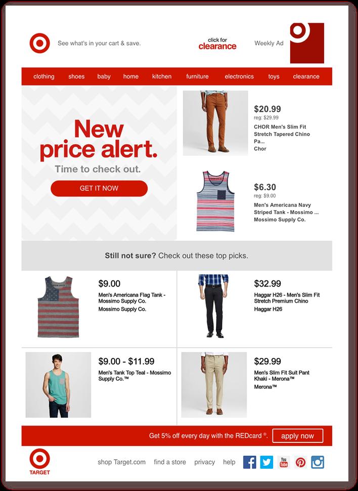 Пример со снижением цены