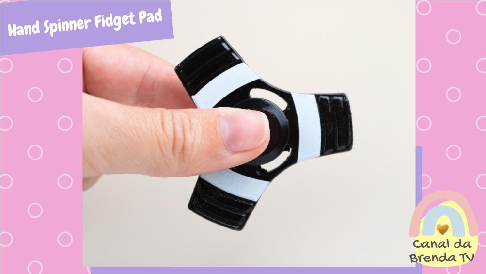 Hand spinner fidget pad