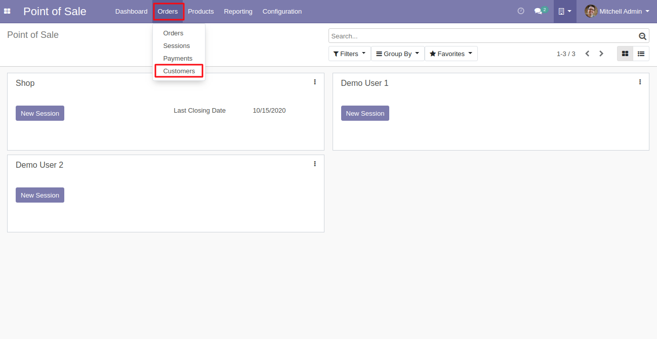 Navigate to the contacts in Odoo back-end.
