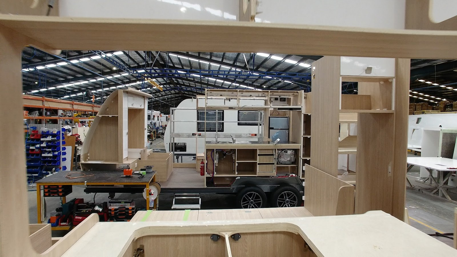 caravan in factory Apollo winnebago