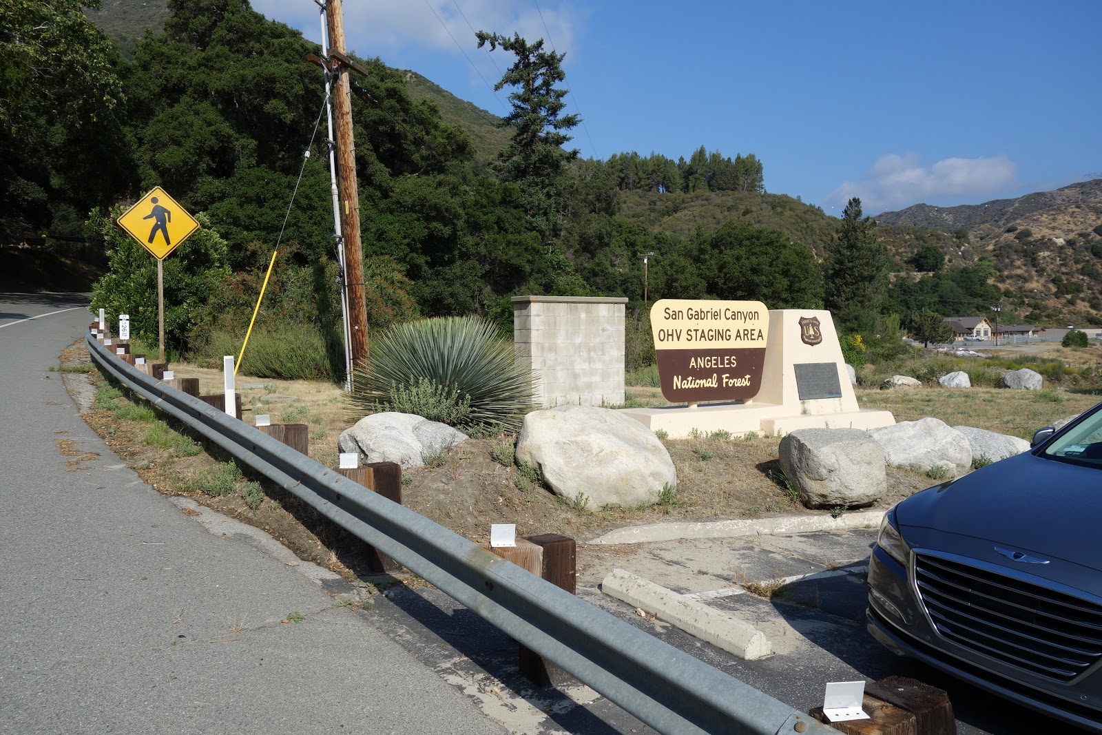 Start of Crystal Lake Bike Climb - Angeles National Forest sign