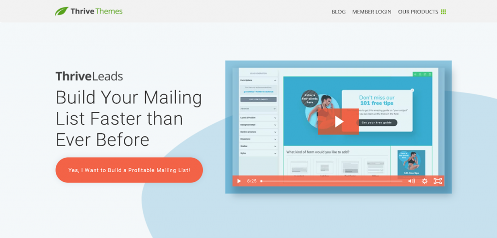 thrive leads Lead-Erstellung E-Mail-Automatisierung Content-Tool