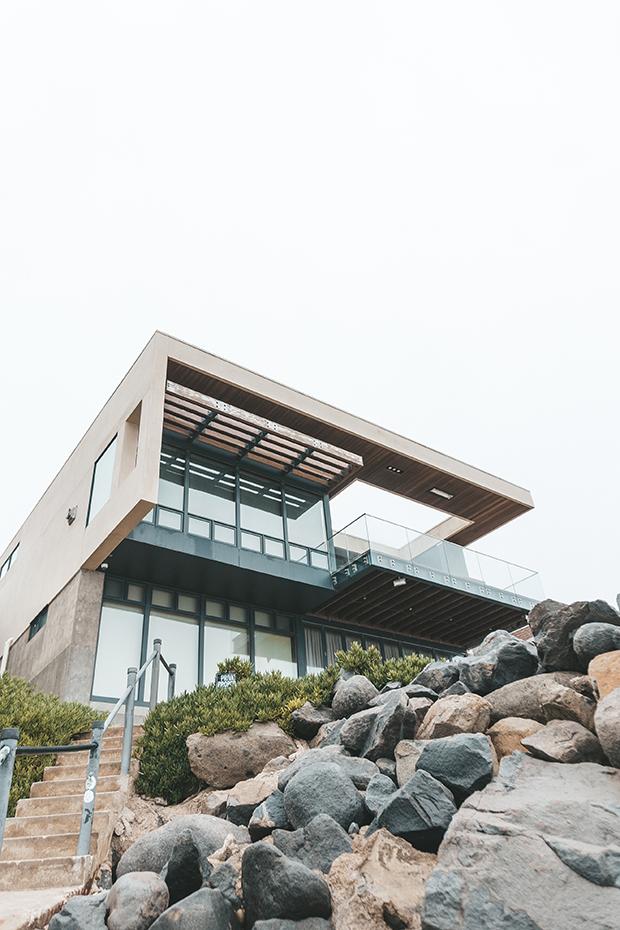 Geometric, modern home exterior